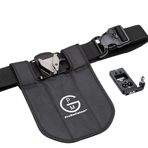 SH1BK Single Camera Belt Holster System for DSLR's and Mirrorless cameras
