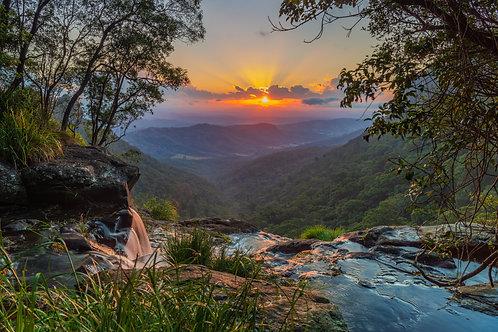 Lamington National Park Sunset, Queensland
