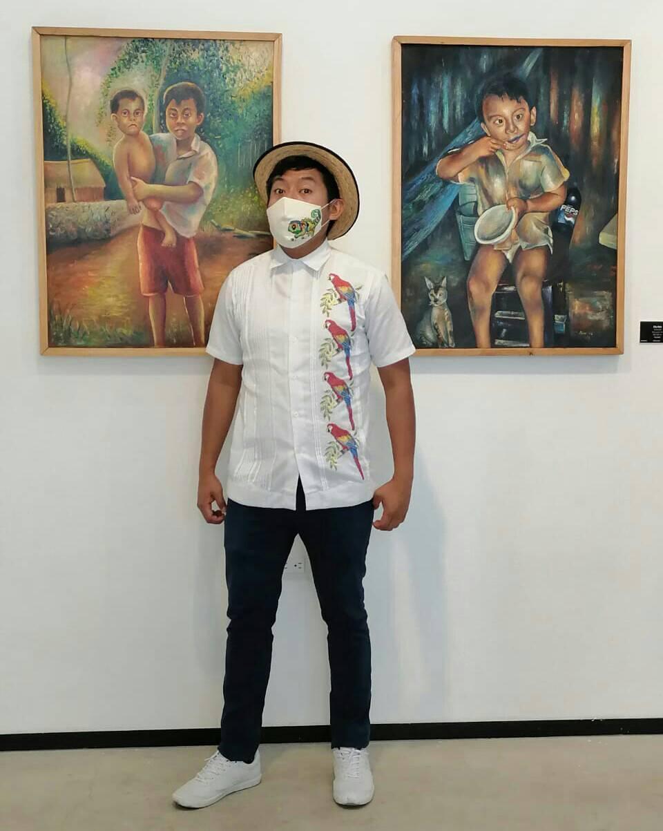 Artista, pintor en Yucatán.