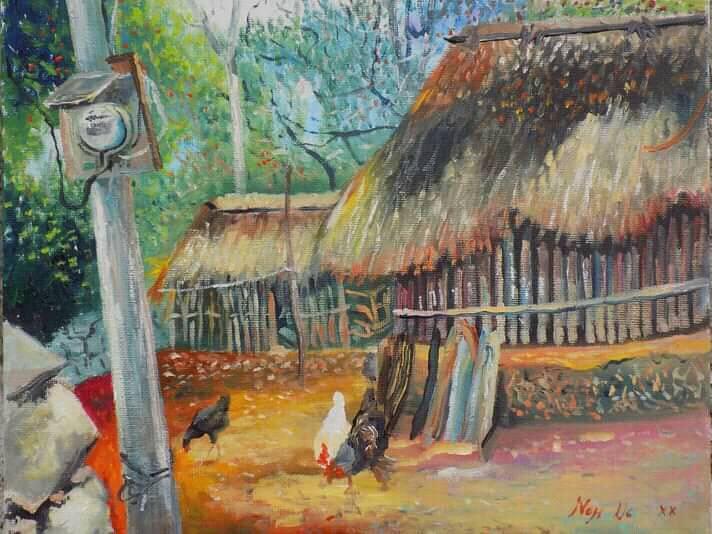 pintura de YUcatan, pintor Elio Noh