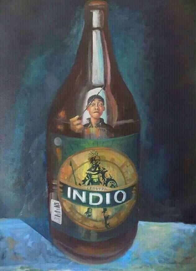 Pintura de Elio NOh, pintor Yucateco.