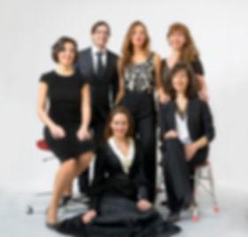 Beatriz de la Banda, M. Alejandra Saturno, Rosa Miranda, Sofía Alegre y Beatriz Lumbreras.