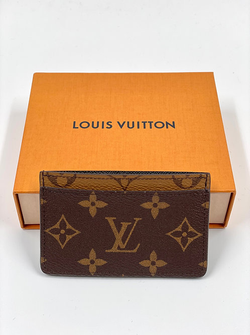LOUIS VUITTON Card Holder Monogram Reverse Canvas