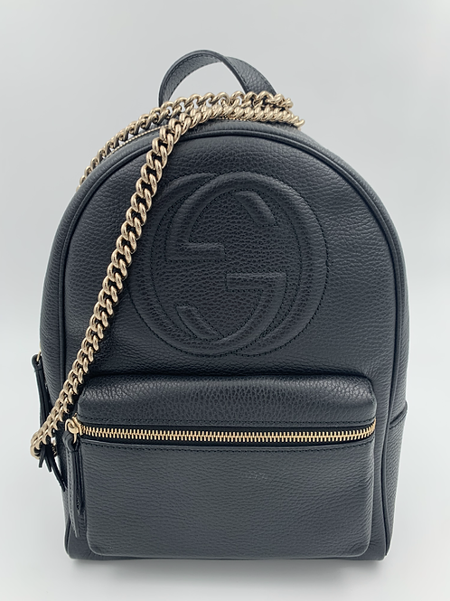 GUCCI Soho Leather Backpack