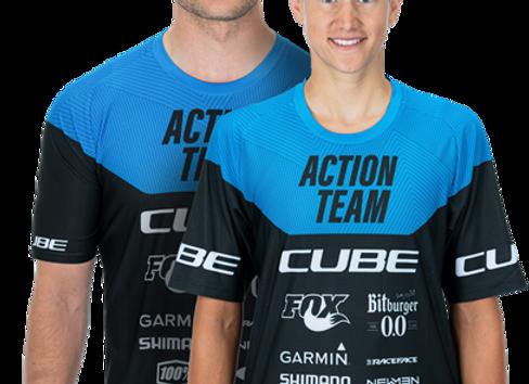 Cube EDGE Round Neck Jersey Action Team