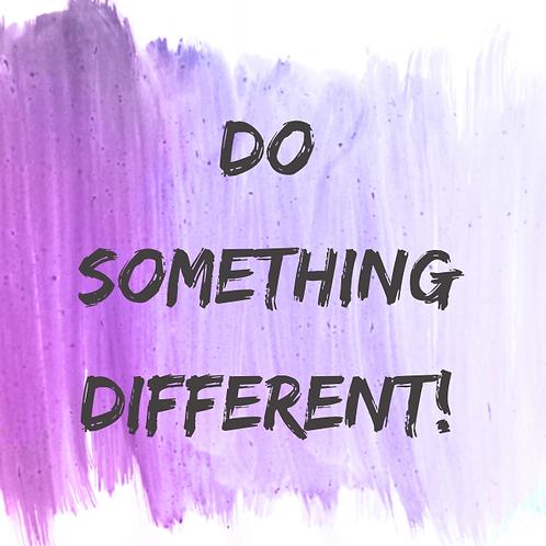 Do Something Different! worksheet