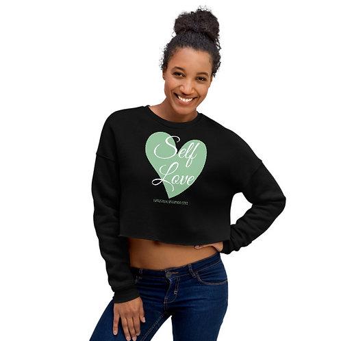 Self-Love crop sweatshirt