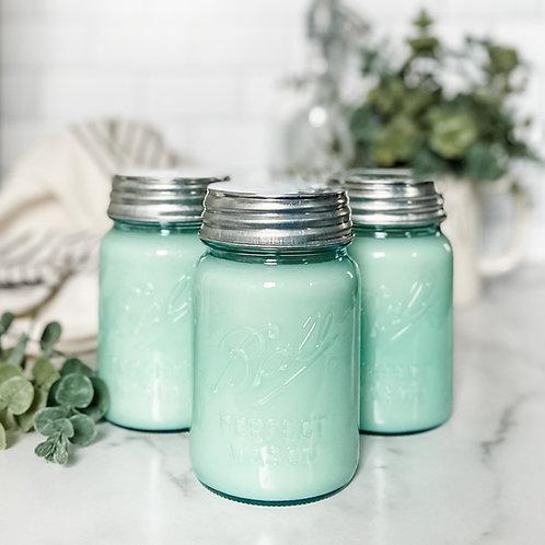 Vintage Blue Soy Candle 16oz