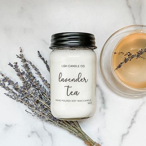 Lavender Tea Mason Jar Soy Candle