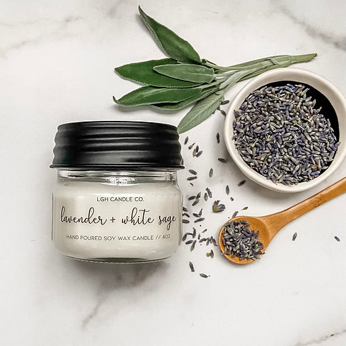Lavender + White Sage Soy Candle
