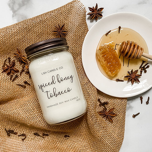 Spiced Honey Tobacco Soy Candle