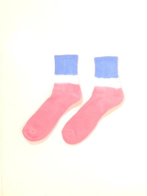 Dip Dyed Lo Socks (BWR)