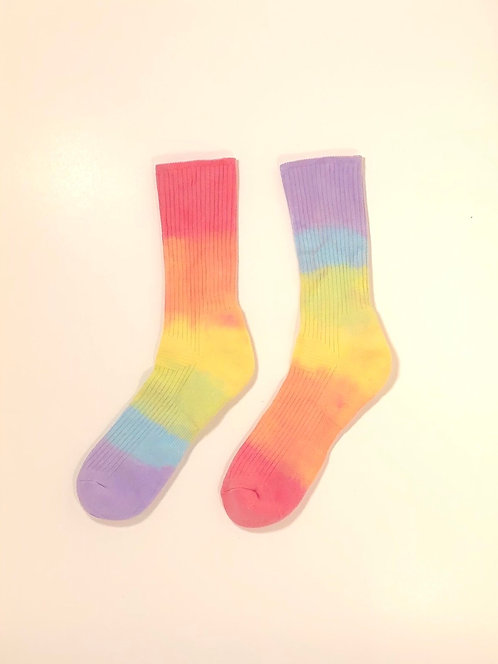 Dip Dyed Hi Socks (Rainbow)