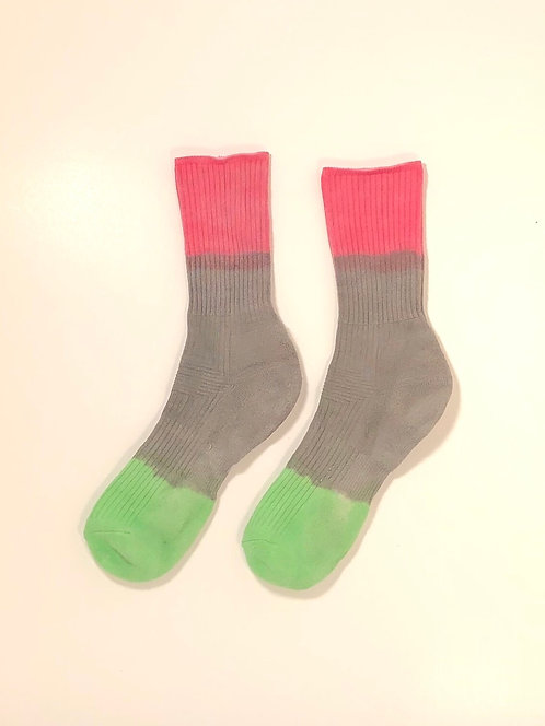 Dip Dyed Hi Socks (RBG)
