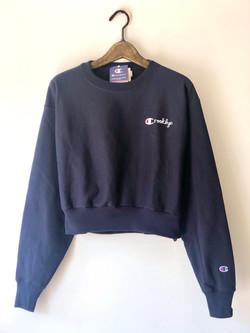 Crooklyn Crop Top (Navy Blue)