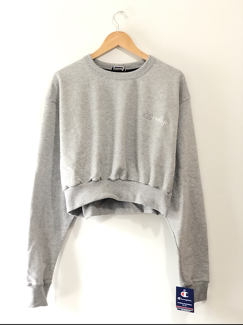 Crooklyn Crop Top (Oxford Grey)