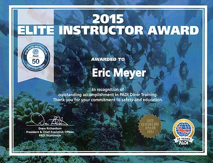 Diploma Eric Meyer PADI