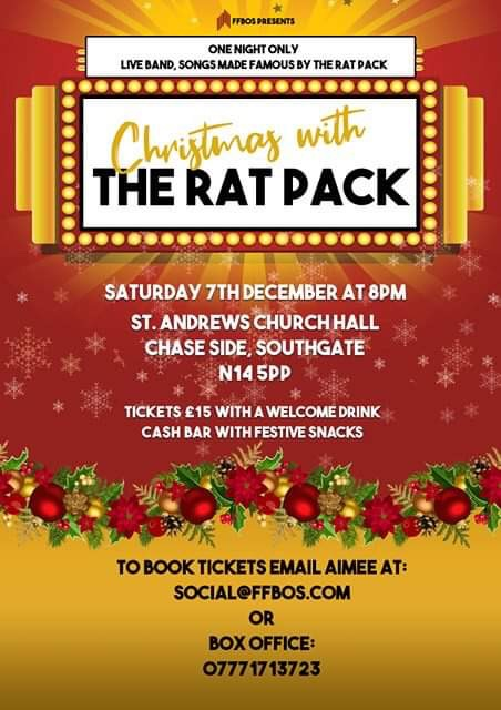 poster or flyer advertising event FFBOS presents Christmas with the Rat Pack