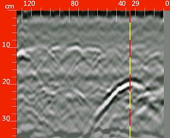 localizzazione catena metallica georadar
