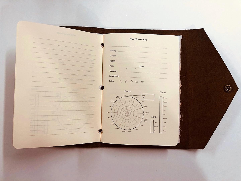 Wine Notes Pocket Internal View