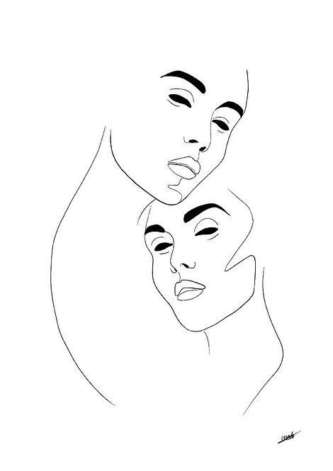 Line art Women poster