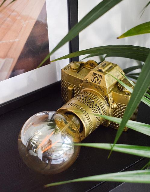 Cameralamp goud