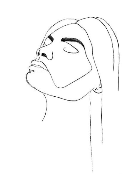 Line art Head Up poster