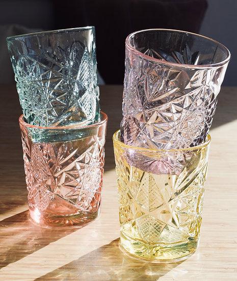 Gekleurde glazen set