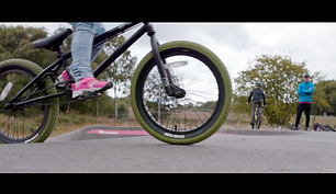 Wishawhill Wood Pump Track in a film for
