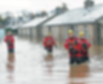 Rescue teams respond to flooding at Port Elphinstone, Aberdeen in 2016.
