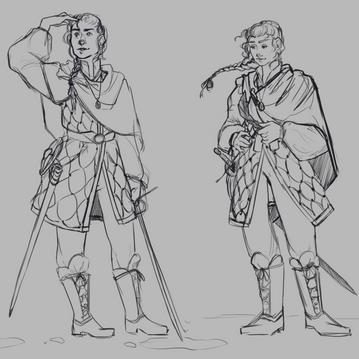 Swordswoman Sketches