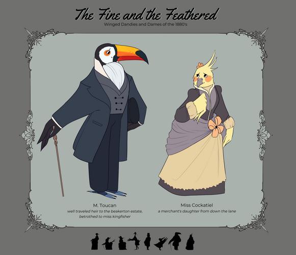 Toucan and Cockatiel