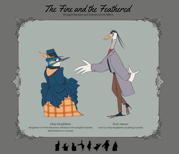 Kingfisher and Heron
