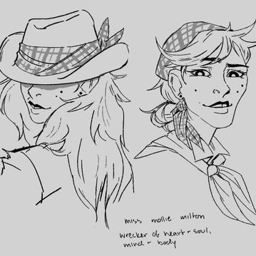 Miss Mollie Milton, Cowgirl Villain