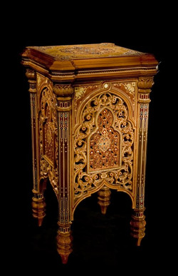 Carved Stand with inlay