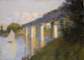 Monet,The Railroad Bridge at Argenteuil,