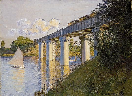Monet,The Railroad Bridge at Argenteuil,