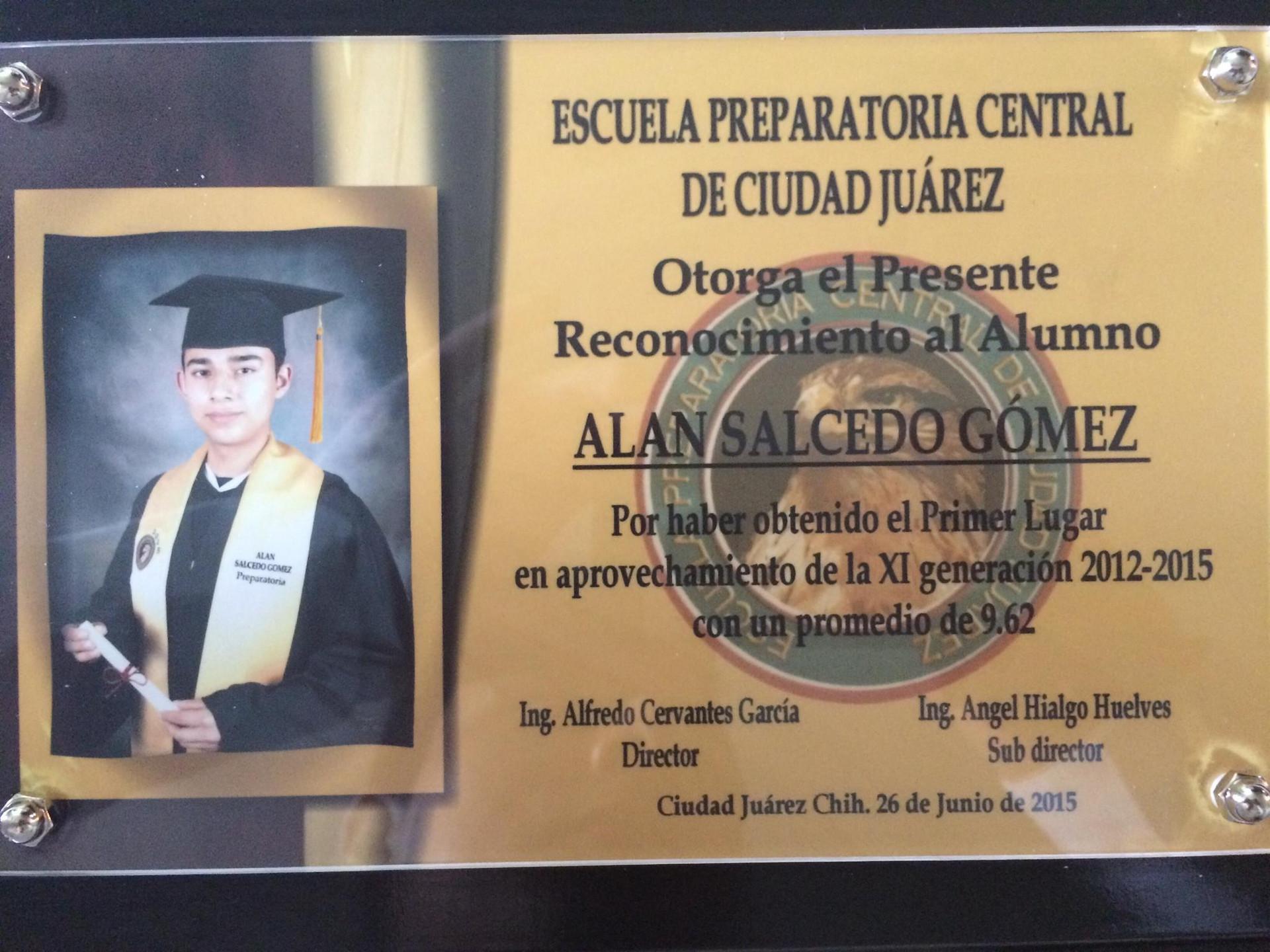 High School Valedictorian Award