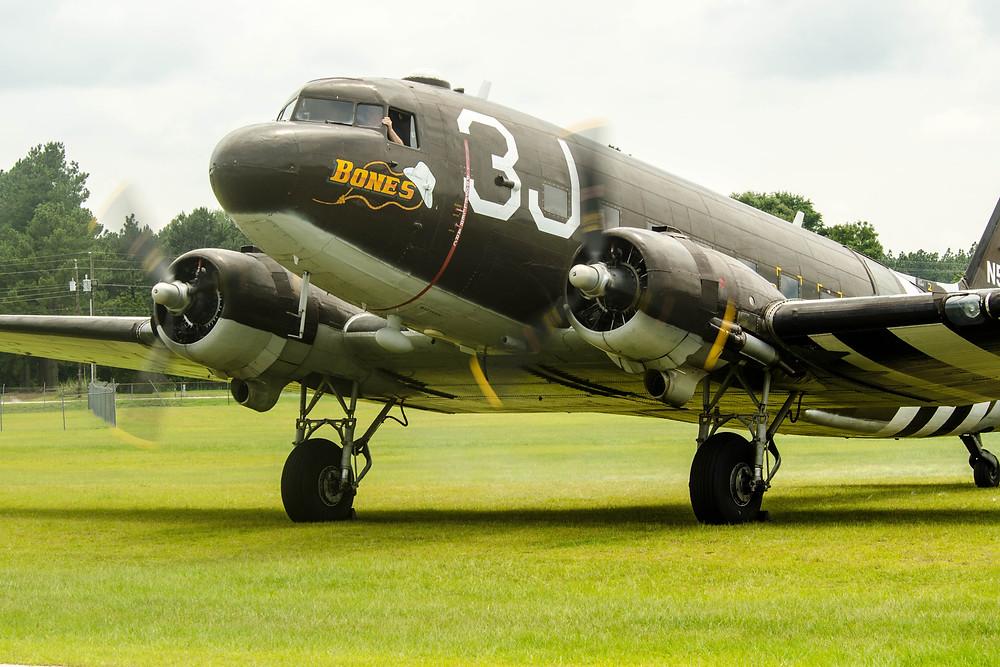 "Douglas C-47A Dakota Mk 1 ""Bones"" at Cheraw Municipal Airport (KCQW), Cheraw, SC in June 2014"