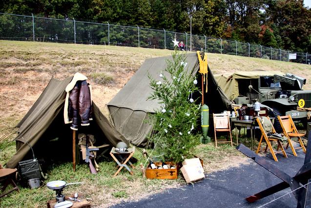 Reenactment WWII Camp
