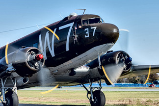 C-47 Skytrain taxing to the line.