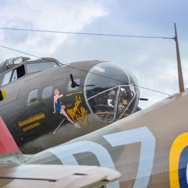 B-17 Flying Fortress & Hawker Hurricane