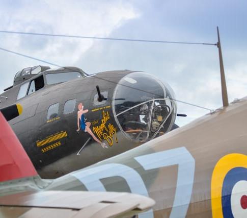 B-17 Flying Fortress & Hawker Hurricane