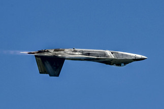 F-22 Raptor Inverted Pass