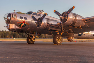 B-17 on the Ramp at Golden Hour