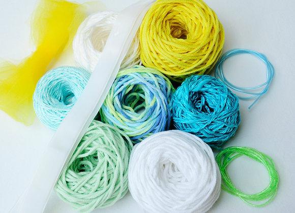 Pack tissage - Summertime - turquoise/vert/jaune