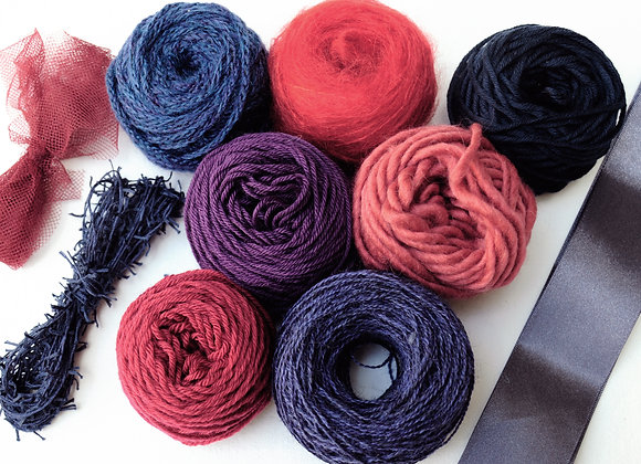 Pack tissage - Mood Indigo - indigo/violet/brique