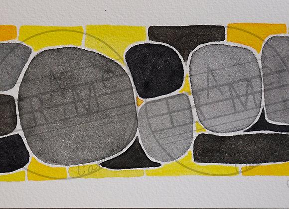 Les Cloisonnées - gris/jaune - 2020