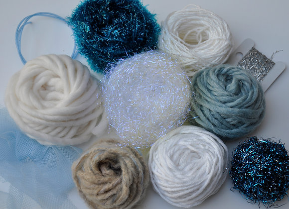 Pack tissage mini - édition Noël - bleu glacier/blanc