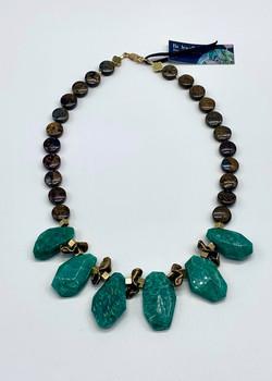 #984 Amazonite & bronzite